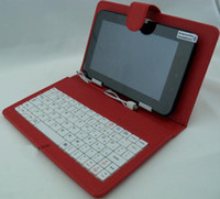 Wholesale 7inch Tablet PC keyboard leather case USB Keyboard Leather Cover for quot Galaxy Tab P1000