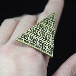 Punk triangular rings Band Rings engagement rings high quality ring finger Jewelry Free Shipping