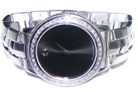 Wholesale NEW arrival MENS MOVO BLACK DIAL DIAMOND WATCH