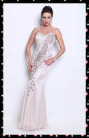 Reference Images Sweetheart Tulle On Sale! 2012 Long Prom Dress Sweetheart Peacock Beading Full length Tulle Evening Gown Dress