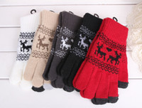 Wholesale Christmas New Winter Warm Gloves Snowflakes fawn Individual design Winter Gloves Warm