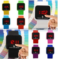 Wholesale 300ps ps Touch Screen Mirror LED Date Silicone Men Lady Outdoor Sport Watch