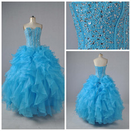 Wholesale 2012 New style beaded lace up back A line Sweetheart Strapless Quinceanera Dresses prom dresses