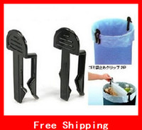 Wholesale Creative Bag Clip Clamp Holder Garbage Can Waste Bin Trash Can Bag Clip Holder For Garbage Trash