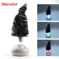Floral No No Hot Sale Color Changing Fiber USB Optical Christmas Tree LED Lamp 50pcs lot