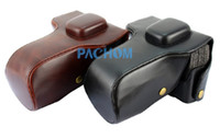 Wholesale New PU Leather Camera Case Bag Protector For Olympus OMD EM5 OM D E M5 Camera E5019