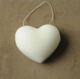 12 pcs lot heart-shaped 100% Pure Natural Konjac Facial Sponge Facial Wash Cleaning Puff 70*90*30 mm