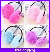 Wholesale U Pick Nice colorful plush Fluffy Earmuffs Ear warmers Earlap Earcap Warm Ear Muffs Headband