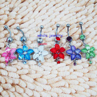 Wholesale Belly Button Ring Fixing BELLY BAR body piercing jewelry hot style free ship