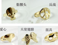 Wholesale new fashion Vintage Retro Wings Peace Skull Mask Mix Style Rings SY3
