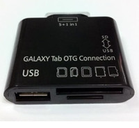 Wholesale 150pcs in USB Camera OTG Connection Kit for SAMSUNG GALAXY Tab P7500 P7510 P7300 Card Reader