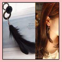 Wholesale Hoop Huggie Feather Earrings large Dangle chandelier charms cheap Fashion Jewelry