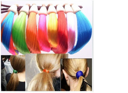 Wholesale Fluorescent color foundation color wig hair rubber band hair rope circle