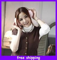Wholesale fashion women lady plush huge ear muff warmer earmuffs earflap earcap cm