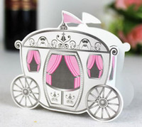 Wholesale 120pcs Princess Carriage Treat Box Birthday Party Favor Wedding Baby Shower Favors