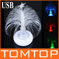 Wholesale Mini USB RGB Colorful LED Christmas Decoration Night Light Romantic Party xmas light H9185