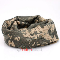 Wholesale 4pcs ACU camouflage Free Ship OutDoor Shemagh Military Army Tactical Keffiyeh Arab Scarf Wrap