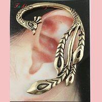 Wholesale Vintage Ear Cuff large peacock Ear Cuff Bronze phoeni stud charm Gift cheap Fashion Jewelry Earring