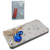Handmade 3D Elf Bling Sapphire Bling Bling Crystal Clear Plastic Hard Case for iPhone 5 5G free glue