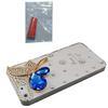 Handmade 3D Elf Bling Sapphire Bling Bling Crystal Clear Plastic Hard Case for iPhone 5 5G free glue