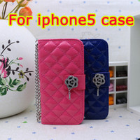 Leather For Apple iPhone  Free shipping new luxury real leather case wallet style mobile phone case for iphone5 iphone 5 5G 5s