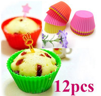 Wholesale Silicone Round Cake Muffin Baking Cup Chocolate Liner Mould Cupcake Case DIY