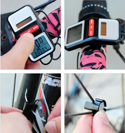 Wholesale Cycling accessories bicycle bike computer speedometer solar battery ABS g Stopwatches mm