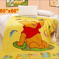 Compra Ropa de cama para niños-Winnie the Pooh Animales de dibujos animados bebé Niños Niño recién nacido Niños Niñas Coral vellón Visón Mantas Juego de cama Cobertores Edredón Edredón