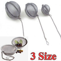Wholesale Stainless Steel Sphere Locking Spice Tea Ball Strainer Mesh Infuser Herb Filter