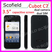 Wholesale 3 inch Smart phone Cubot C7 MTK6515 GHz CPU Dual SIM Android Quad Band Dual Camera MP