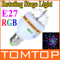 Wholesale 3W E27 Full Color LED Crystal mini stage light Voice activated Rotating DJ Stage Lamp Bulb H9183