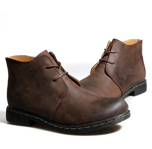 Brand New Handmade Men's Casual Boots Shoes 100% Genuine Leather ...