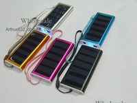 Wholesale 30PCS mAh Solar Charger USB Power Panel Battery Flashlight for MP3 MP4 PDA Cell Phone Camera