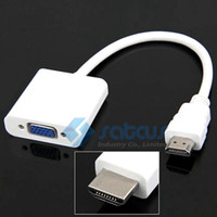 Wholesale 1080P HDMI Male to VGA Female Video Converter Adapter Cable for PC DVD HDTV