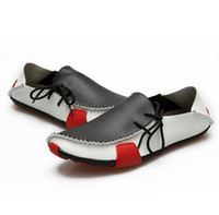 Wholesale Men s handmade casual loafers shoes leather brand new fashion shoes cheap