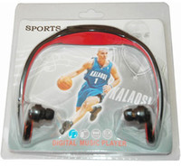 Wholesale Blister Pack Sport Digital Music Player TF Card Slot Built in Rechargeable li on Battery Free Ship