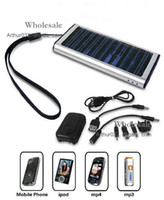 Wholesale Promotion mAh Solar Charger USB Power Panel Battery Flashlight for MP3 MP4 PDA Cell Phone Camera