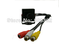 Wholesale New quot Sony CCD TVL Mini mm MTV Board Mount Lens CCTV Security Audio Video Color Camera Mic F