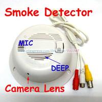 Indoor alarm ccd cameras - Real Smoke Detector Alarm CCTV Camera TV mm Lens Working Smoke Detector with Hidden Camera