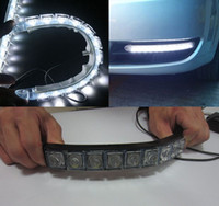 Wholesale 2pcs Flexible LED light strip auto DRL Lens led Waterproof universal car daytime running lights