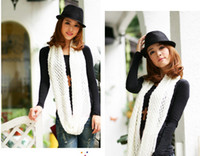 Wholesale women shawl warm soft shag wool scarves mixed colors