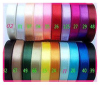 Wholesale 15 off MM SINGLE SATIN RIBBON FOR WEDDING CRAFT GIFT WRAP yards