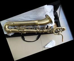 Nouveau Top Quality Antique Saxophone Baryton Eb Bari Sax Low Key a ~ Haute F # 12 11 08 à partir de clé eb fabricateur