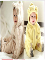 Wholesale Winter baby clothing Year infant s clothes baby coat rompers Jumpsuits outwear animal rompers