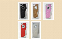 Wholesale Pink Honey Comb Special Design Silver Chrome Snap Bling Case for iPhone