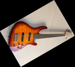 Wholesale China Bass Guitar Strings Jazz Electric Bass In Sunburst Best Quality