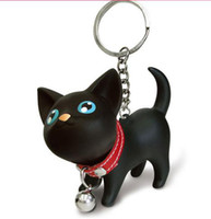 keychain - Creative Cat doll keychain Cat key ring Lovers key chain Lovely cute cat keychain