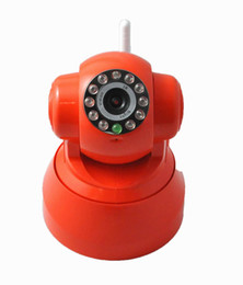 Wholesale Wireless IP Camera w languages WiFi P T funtion Nightvision over meter Two way Audio channel