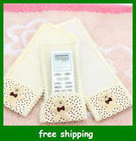Wholesale Hot Bear Remote Control Cases pouch bear TV Air conditioning Cloth protect cover gifts