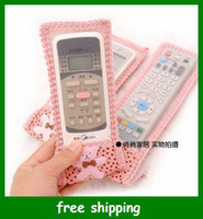 Wholesale Fashion Lace Remote control protective cover Bear Bowknot pouch case Family use gifts